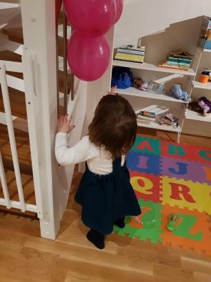 Kul med ballonger