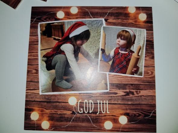Julkort med personligt foto
