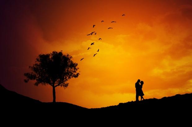 Spirande kärlek och firande av årsdag