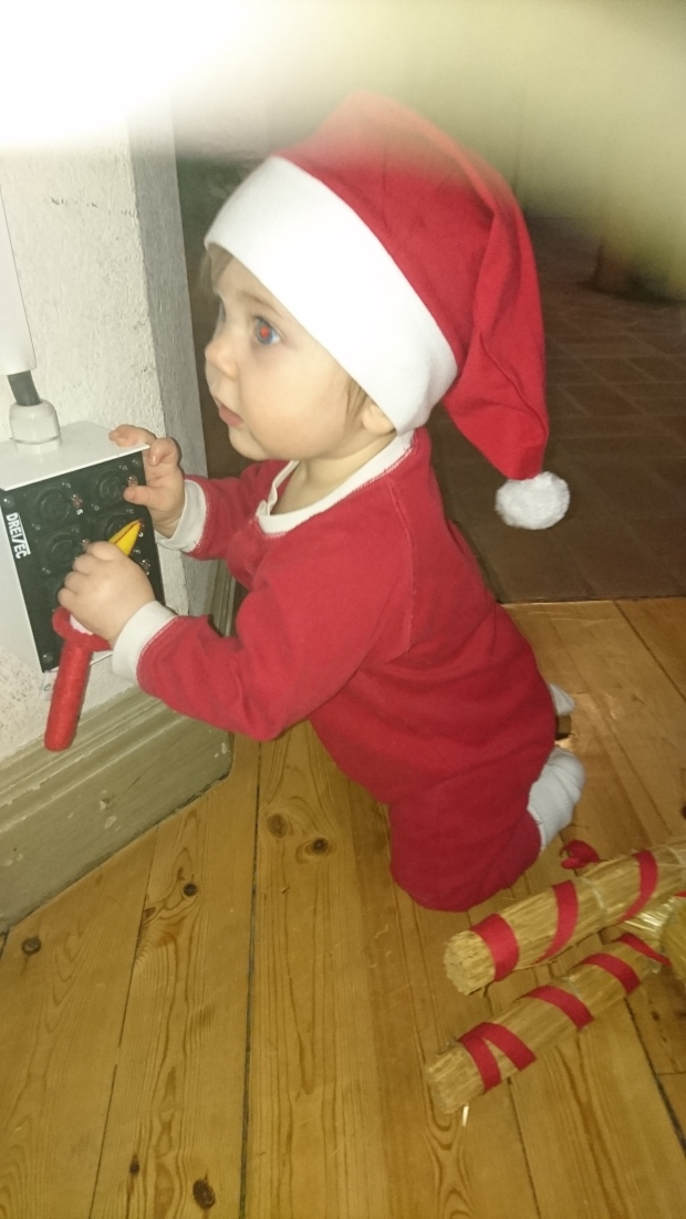 Luciatåg på öppna förskolan i Tingvallakyrkan